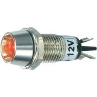 LED signálka SCI R9-115L 12 V RED, LED vnitřní reflektor 5 mm, 12 V/DC, červená