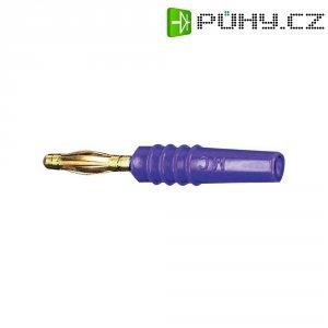 Lamelový konektor Ø 2 mm MultiContact 22.2618-26, zástrčka rovná, fialová