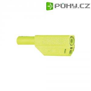 Lamelový konektor Ø 4 mm MultiContact 22.2657-24, zástrčka rovná, žlutá