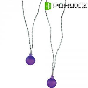 Vnitřní vánoční řetěz Polarlite, 20 LED, 1,07 m, fialový