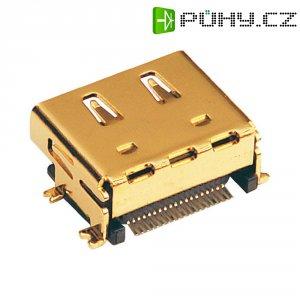 HDMI konektor BKL Electronic 907006, zásuvka vestavná horizontální, 19pól., stříbrná