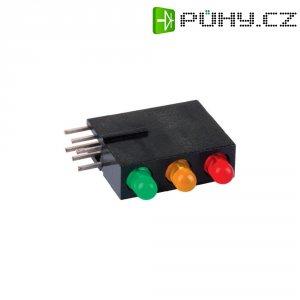 LED modul 3násobná červená, žlutá, zelená (š x v x h) 5.08 x 15.24 x 12.5 mm Mentor 1881.8720