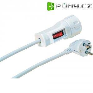 Prodlužovací kabel s vypínačem, 2 m, bílá