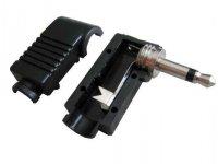 Konektor JACK 3,5 mono plast úhlový černý