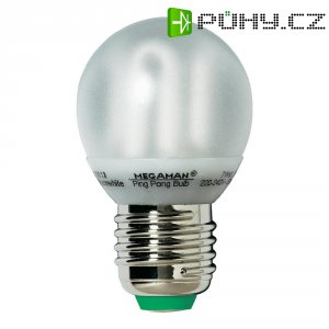 Úsporná žárovka kulatá Megaman Ping Pong E27, 7 W, teplá bílá