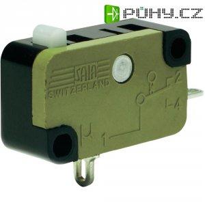 Mikrospínač saia série XG-faston, rolnička 12,8 mm