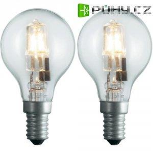 Halogenová žárovka Sygonix, E14, 42 W, 80 mm, stmívatelná, teplá bílá, 2 ks