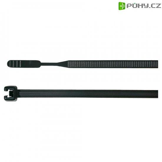 Stahovací pásky Q-serie HellermannTyton Q18L-W-BK-C1, 195 x 2,6 mm, 100 ks, černá - Kliknutím na obrázek zavřete