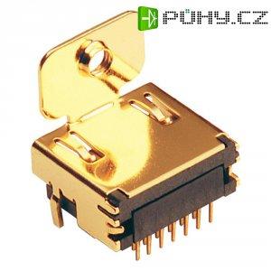 HDMI konektor BKL Electronic 907000, zásuvka vestavná horizontální, 19pól., zlatá