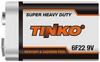 Baterie TINKO 9V(6F22) Zn-Cl, MJ=1ks