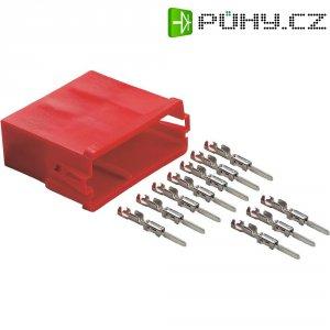 Mini ISO zásuvka AIV, 10 kontaktů, červená