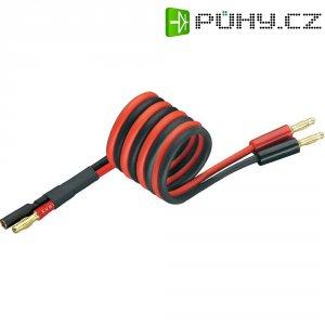 Napájecí kabel s bánanky 4 mm zásuvka/zástrčka Modelcraft, 250 mm, 4 mm²