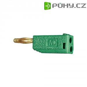 Lamelový konektor Ø 2 mm MultiContact 22.2615-25, zástrčka rovná, zelená
