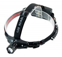 LED svítilna, 3W Cree LED, černočervená, 3 x AAA