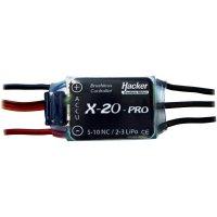 Regulátor otáček Brushless Hacker X-Pro, 5 - 10 NiCd / 2 - 3 LiPo, 20 A, JR