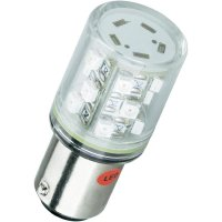 LED žárovka BA15d Barthelme, 52160212, 24 V, 5000 mcd, žlutá