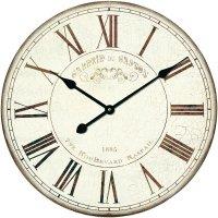 Analogové nástěnné hodiny Techno Line Retro WT 1510, Ø 50 x 5 cm, béžová