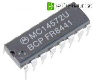 4572 - 4x invertor, 1x NAND, 1xNOR, DIL16 /MC14572BCP/