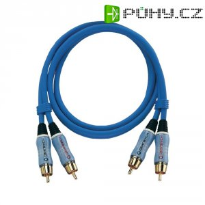 Připojovací kabel Oehlbach, cinch zástr./cinch zástr., modrý, 5 m