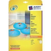 Potisknutelné štítky na CD Avery Zweckform, L7676-25, bílá, 50 ks