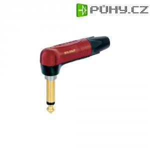 Jack konektor 6,35 mm mono Neutrik NP2RX-AU-SILENT, zástrčka rovná, 4 - 7 mm, 2pól., červená