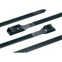 Stahovací pásek s plochou hlavou HellermannTyton RPE275-HSW-BK-C1, 275 x 9 mm, černá