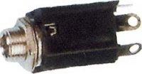 JACK zdířka 6,3 mono s vyp.kontaktem panelová