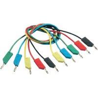 Měřicí kabel banánek 4 mm ⇔ banánek 4 mm SKS Hirschmann CO MLN 50/1, 0,5 m, modrá