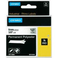 Páska do štítkovače DYMO 18508 (S0718160), 9 mm, IND RHINO, 5,5 m, černá/transp.