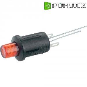 Tlačítkový spínač R13-529BL červená LED