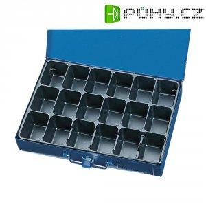 Plechová krabička na součástky, 330 x 230 x 50 mm, modrá