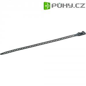 Rozepínací stahovací pásek H-Tyton SOFTFIX-L-TPU-BK-W, do 12 kg, 340 x 11 mm, černá, 6 ks