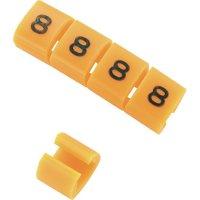 Označovací klip na kabely KSS MB1/8 548114, 8, oranžová, 10 ks