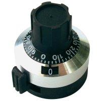 Otočný knoflík s počítadlem Bourns H-5166A, 6,35 mm, 15 otáček