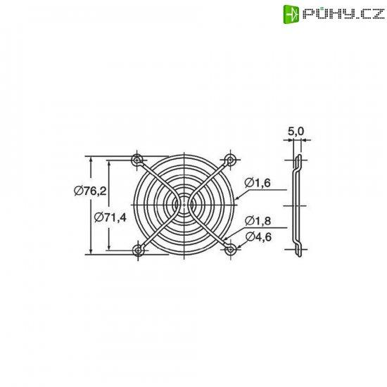 Ochranná mřížka ventilátoru Panasonic ASFN88001, 80 mm x 80 mm - Kliknutím na obrázek zavřete
