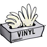 Jednorázové vinylové rukavice Leipold + Döhle 14695, velikost M, transparentní, 100 ks