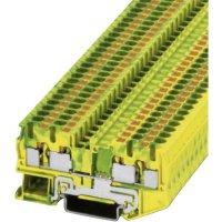 Svorka Push-in Phoenix Contact PIT 4-QUATTRO-PE (3211809), s ochr. vodičem, 6,2 mm, zel/žlut