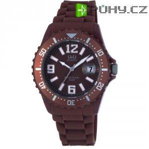 Ručičkové náramkové hodinky Carlton Quartz, silikonový pásek, hnědá