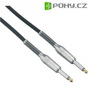 Instrumentální profi kabel JACK 6,3 mm Paccs, 6 m, stříbrná