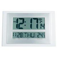 Digitální nástěnné hodiny Slim, bílá