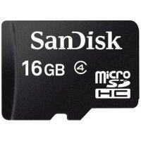 Paměťová karta microSDHC Sandisk 16 GB Class 2