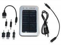 Solární záložní nabíječka s akumulátorem Powerbanka 2600 mAh; 4,5V/ 5V/ 6,5V/ 9V, LED svítilna
