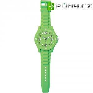 Analogové nástěnné hodiny v provedení hodinek, 2227K-EPR, Ø 30 x 100 cm, zelená