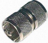 UHF zástrčka / UHF zástrčka, 50 Ω, 2 x PL 259, adaptér rovný, Izolace: Delrin, PTFE, DAP