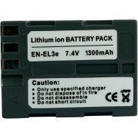 Li-Ion akumulátor pro videokameru Nikon EN-EL3E, 7,4 V, 1300 mAh, tmavě šedá