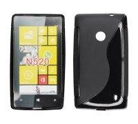 ForCell Zadní Kryt Lux S Black pro Nokia Lumia 520