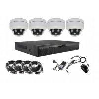 4CH PTZ AHD 5MPx kamerový set mini PTZ 5x ZOOM + 16CH NVR2104, H265, 4K