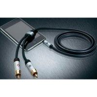 Připojovací kabel Oehlbach, jack zástr. 3.5 mm/cinch zástr., černý, 5 m