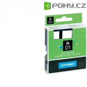 Páska do štítkovače DYMO 45013/ 45803, 12/19 mm, D1, 7 m, černá/bílá, 2 ks
