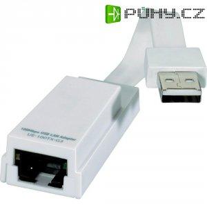 Síťový adaptér USB 2.0 Ethernet pro Wii, PC nebo Mac